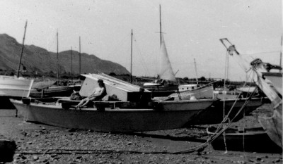 The author relxing on the beach at the Wharram camp in Deganwy 1969 1
