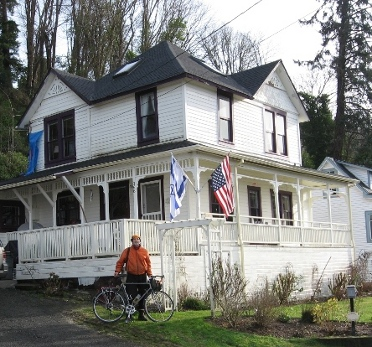 The author at the Goonie House in Uppertown on the east end.