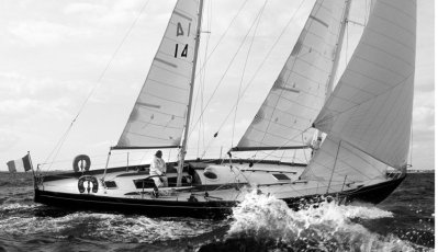 Eric Tabarly's 44' Pen Duick II on the wind