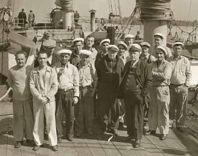 The crew of the Tango looked like a good bunch, but had never set foot on a sailing ship before.