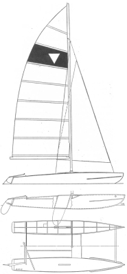 "The 15' 6"" YW catamaran was high technology in 1962."