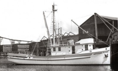 "The Western Flyer was launched in Tacoma as part of a company fleet, all  named ""Western ........"""